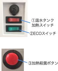 クリアエコ Sモデル 3.本体裏スイッチ